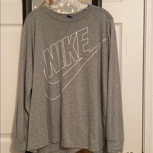 Grey Nike Long Sleeve Top